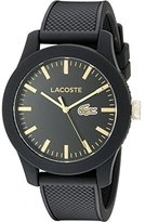 Lacoste Men's 2010818 Lacoste.12.12 Analog Display Japanese Quartz Black Watch