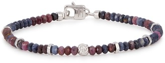 Tateossian Sapphire medium beaded bracelet