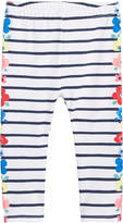 First Impressions Floral-Side Striped Leggings, Baby Girls, Created for Macy's
