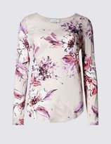 Marks and Spencer Embroidered Long Sleeve Jersey Top
