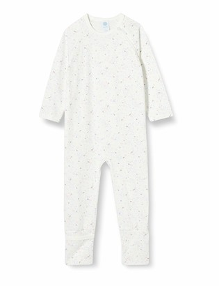 Sanetta Baby_Girl's Overall Broken White Toddler Sleepers