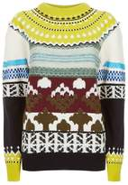 Burberry Patchwork Panel Knitted Sweater