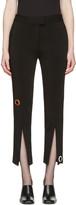 Christopher Kane Black Eyelet Split Seam Trousers