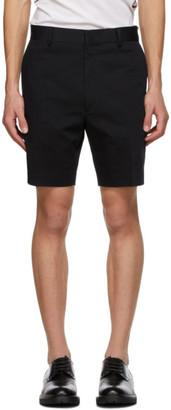 Fendi Black Plain Shorts