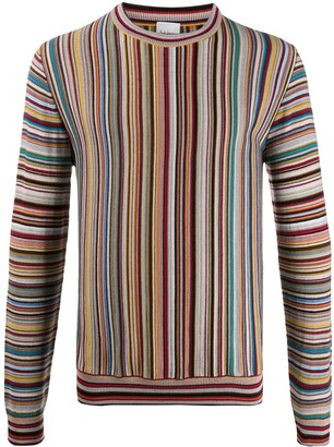 Paul Smith Long Sleeve Striped Knit Jumper
