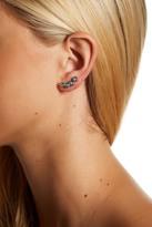 Cole Haan Bezel Set Multi Stone Ear Crawler Earrings