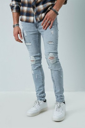 Forever 21 Distressed Slim-Fit Jeans