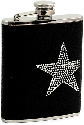 Bey-Berk Embellished Stainless Steel Flask
