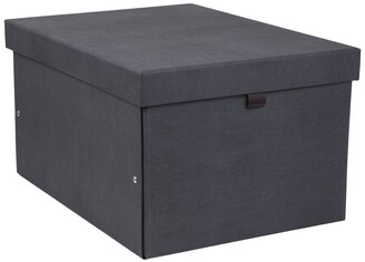 Bigso Box Of Sweden Oui X Bigso Tora Rectangular Storage Box Charcoal Extra Large