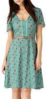 Sugarhill Boutique Pippa Strawberry Print Dress, Green/Multi