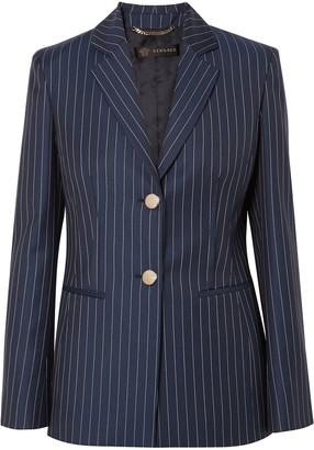 Versace Pinstriped Wool-twill Blazer