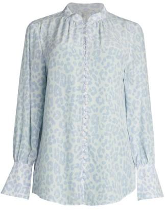 Joie Tariana Leopard Silk Blouse