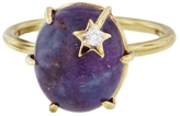 Andrea Fohrman Ruby Kyanite and Clear Quartz Mini Star Ring