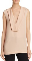 Theory Salvatill Silk Georgette Top