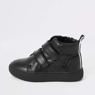 River Island Mini boys RI monogram velcro trainers