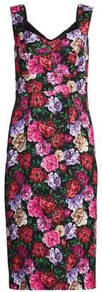 Escada Dinavia Floral Sheath Dress
