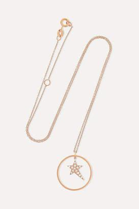 Diane Kordas Star Charm 18-karat Rose Gold Diamond Necklace - one size