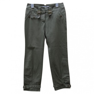 Christian Dior Green Cotton Trousers