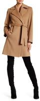 Fleurette Notch Collar Wool Wrap Coat