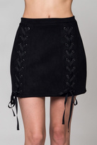 Honey Punch Lace Up Skirt