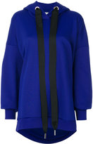 Marques Almeida Asymmetric Oversized Blend Cotton Hoodie