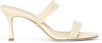 Manolo Blahnik Riesamu 70 leather mule sandals