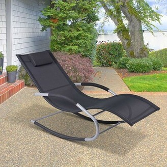 Zero Gravity Shane Outdoor Poolside Wave Rocker Reclining Chair Bay Isle Home