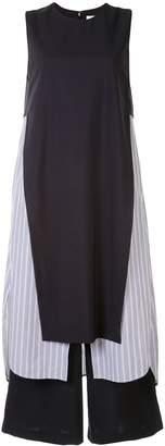 Enfold Sleeveless Striped Shift Dress