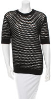 Derek Lam Short Sleeve Open Knit Sweater
