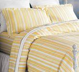 Tonal Stripe Organic Duvet Cover & Sham - Marigold