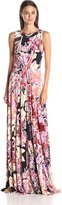 Just Cavalli Women's Demetra Print Long Jersey Gown