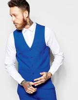 Asos Waistcoat In Blue