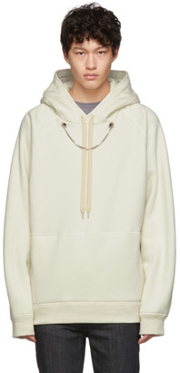 Neil Barrett Off-White Oversized Beefy Chain Hoodie