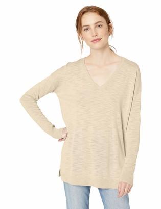 Daily Ritual Amazon Brand Women's Lightweight V-Neck Tunic Pullover Sweater