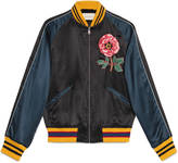 Gucci Silk bomber jacket with embroideries