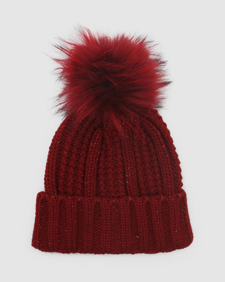 Morgan & Taylor Women's Red Beanies - Darcie Beanie - Size One Size at The Iconic