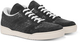 Bottega Veneta - Suede-trimmed Intrecciato Leather Sneakers