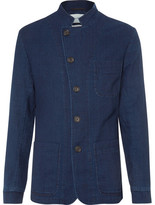 Oliver Spencer Blue Washed-Cotton Canvas Blazer