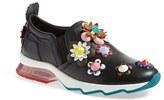 Fendi Women's 'Ffast' Embellished Slip-On Sneaker
