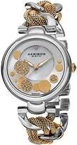 Akribos XXIV Women's AK643TTG Lady Diamond Silver-Tone and Gold-Tone Dial Mesh and Chain Link Bracelet Watch