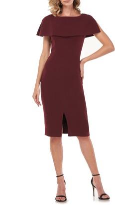 Kay Unger Sloan Popover Sheath Dress
