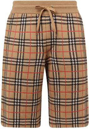 Burberry Wool Vintage Check Shorts