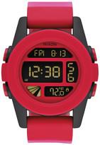 Nixon Men&s Unit Red Fade Digital Silicone Watch