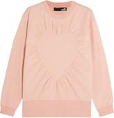 Love Moschino Gathered cotton-blend sweatshirt