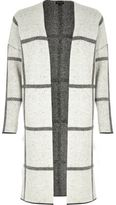 River Island Womens Grey check knitted cardigan
