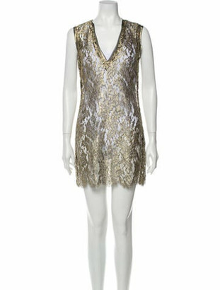 A.o.t.c. V-Neck Mini Dress Gold A.o.t.c. V-Neck Mini Dress
