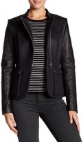 Barbour Long Leather Sleeve Jacket