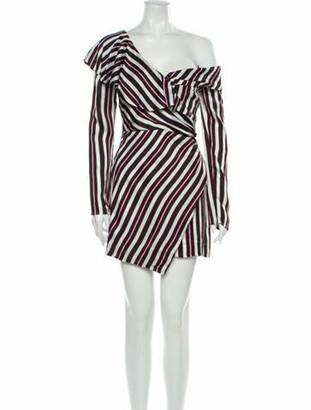 AMUR Striped Mini Dress Striped Mini Dress