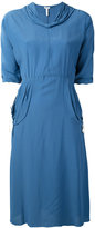 Loewe v neck dress - women - Silk/Viscose - 34