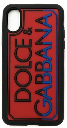 Dolce & Gabbana embossed logo iPhone X/XS case